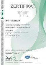 unitrans-hauptvogel-Zertifikat-ISO-14001-2015