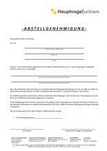 Abstellgenehmigung