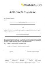 Zustellgenehmigung